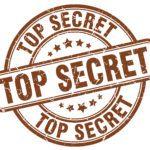 Top Secret Brown Grunge Round Vintage Rubber Stamp.top Secret St